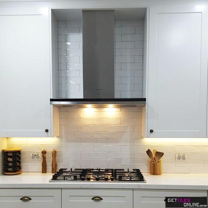 Cheap Handmade Look Subway Tiles - Hume White Gloss 75x300 ...