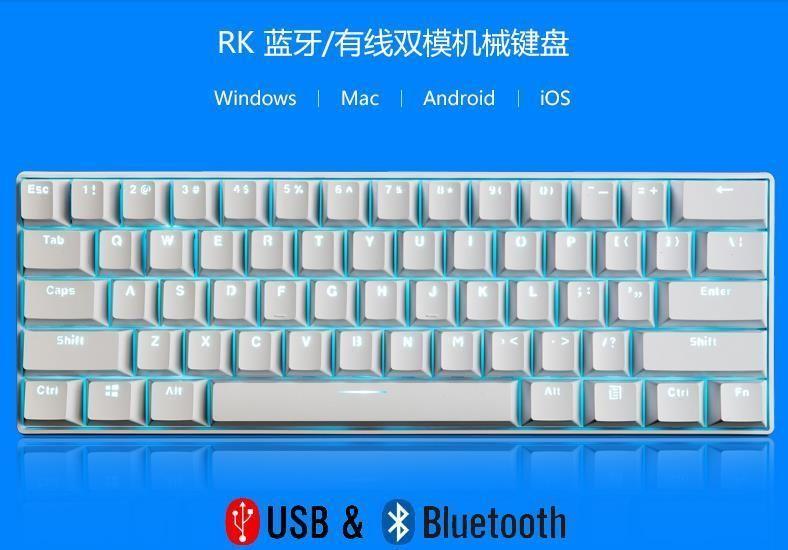 Royal Kludge Rk61 Bluetooth Wireless Usb Wire Blue Switch Mechanical Keyboard Keyboard Bluetooth Mechanic