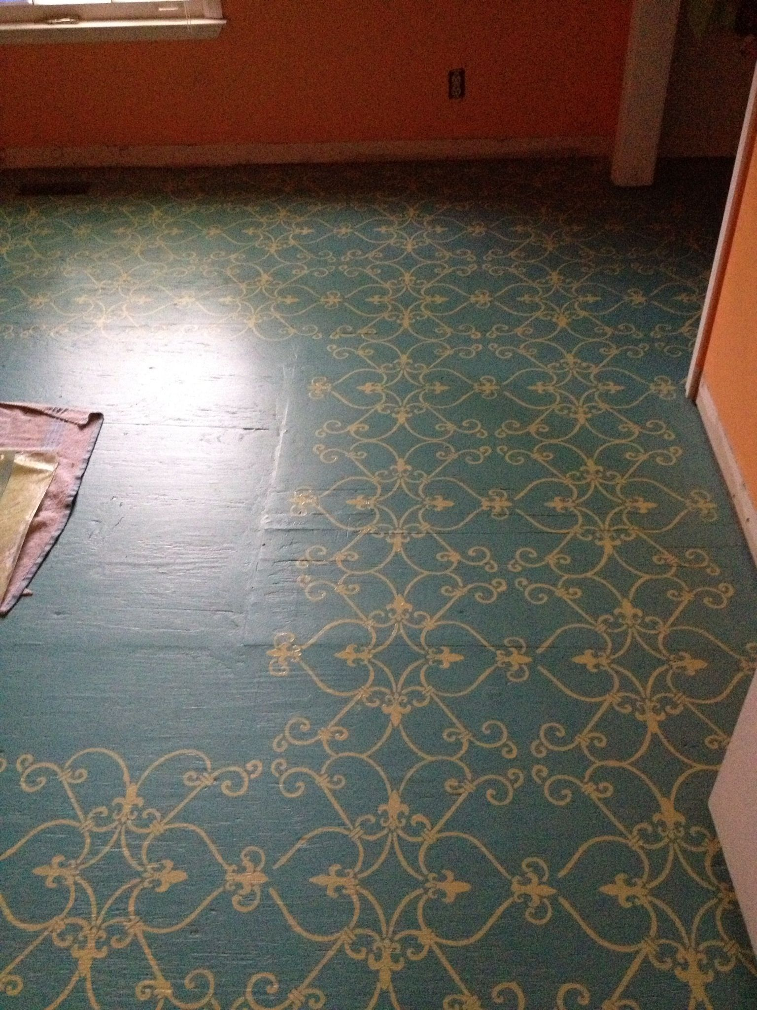 Painted Subfloor I Love The Design This Would Be
