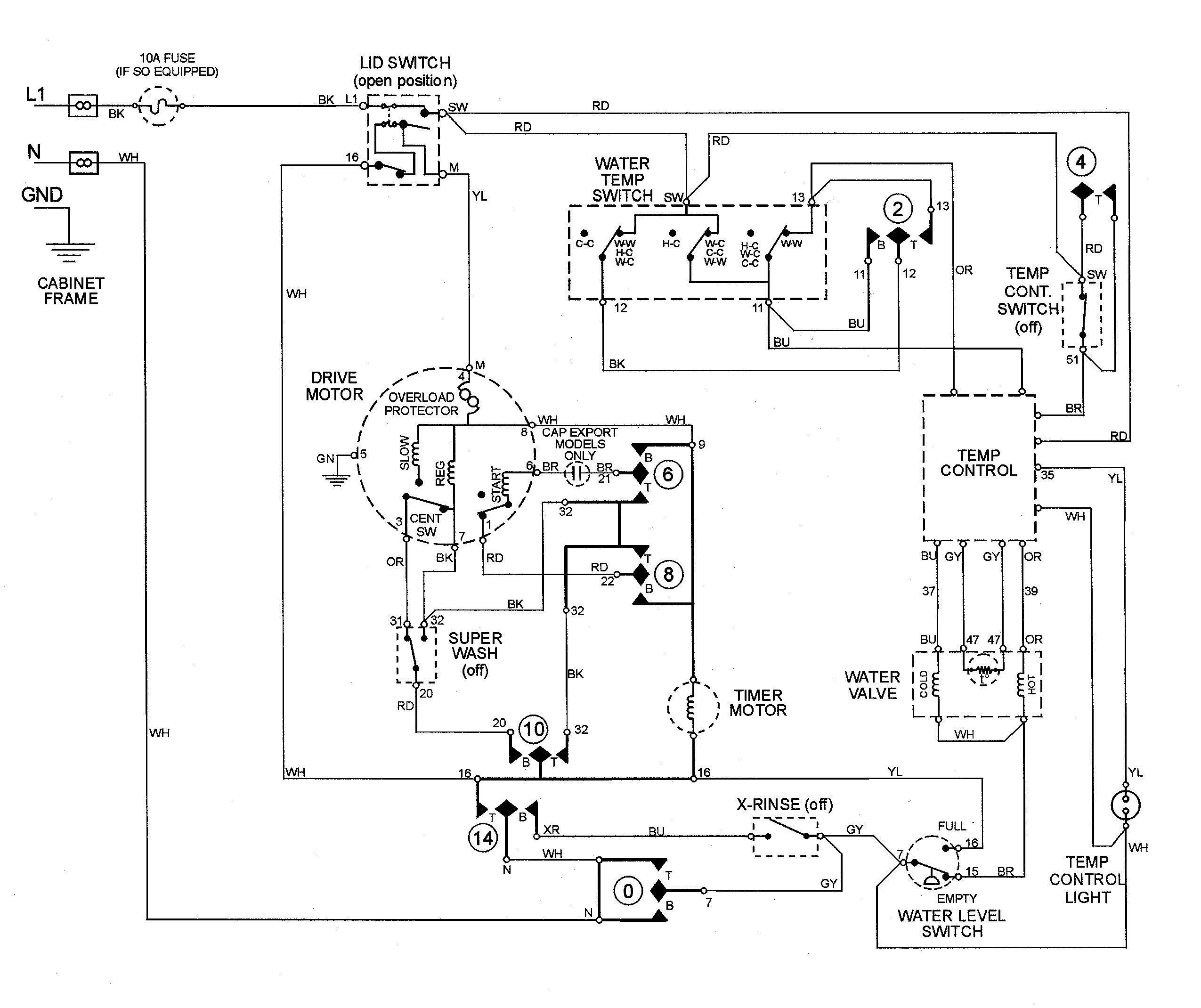 Inspirational Ge Motor Starter Wiring Diagram Washing Machine Motor Electrical Diagram Electric Dryers