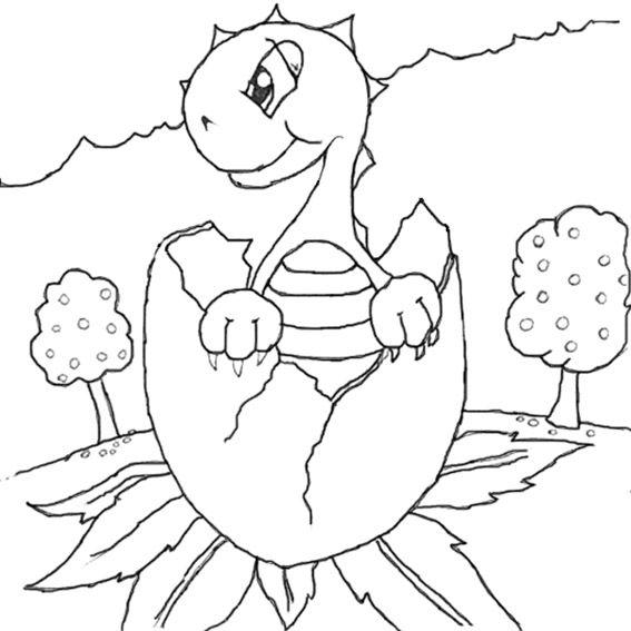 Dibujos para colorear dinosaurios 7 | Dibujos para colorear e ...