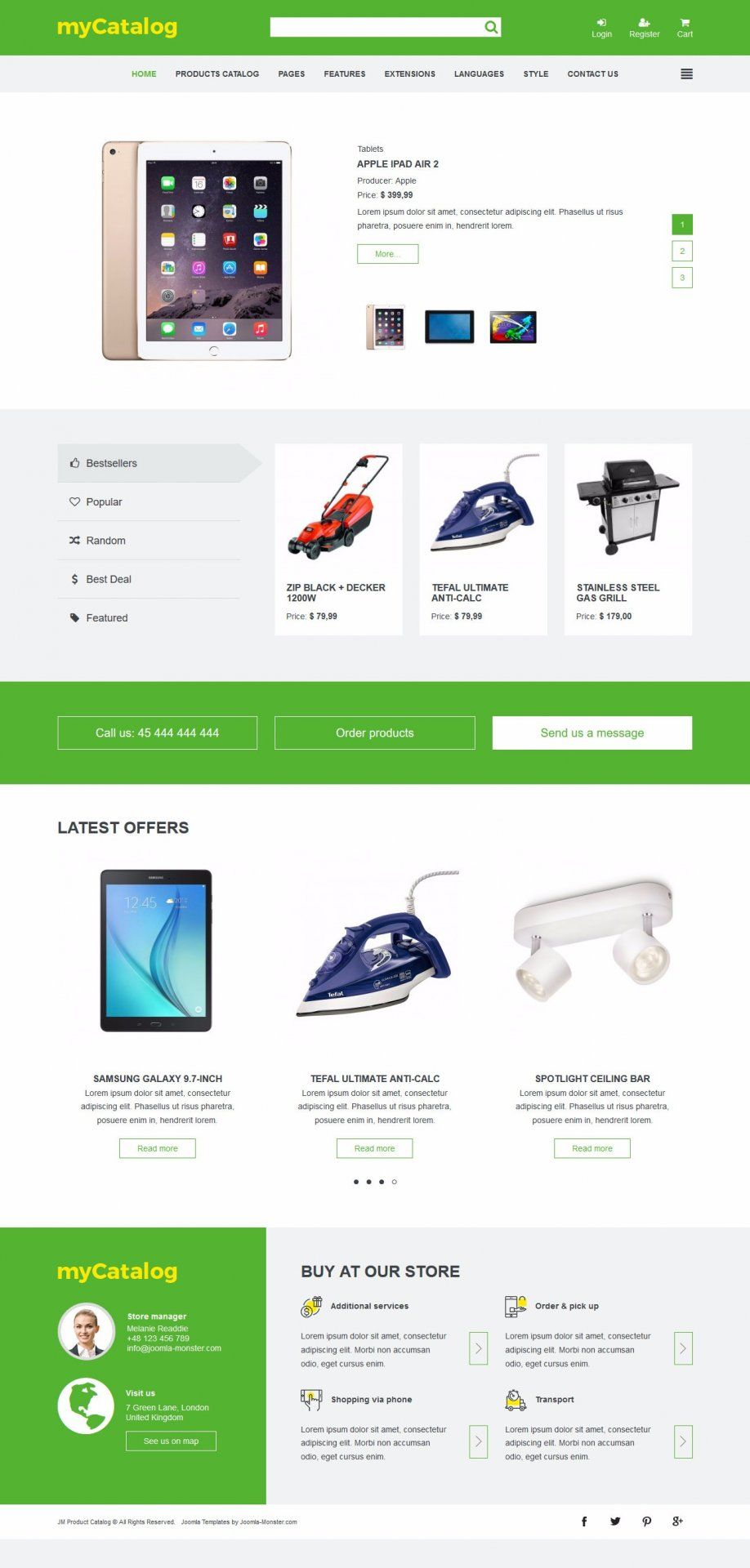 JM Product Catalog - template for Joomla 3.x The template is based ...