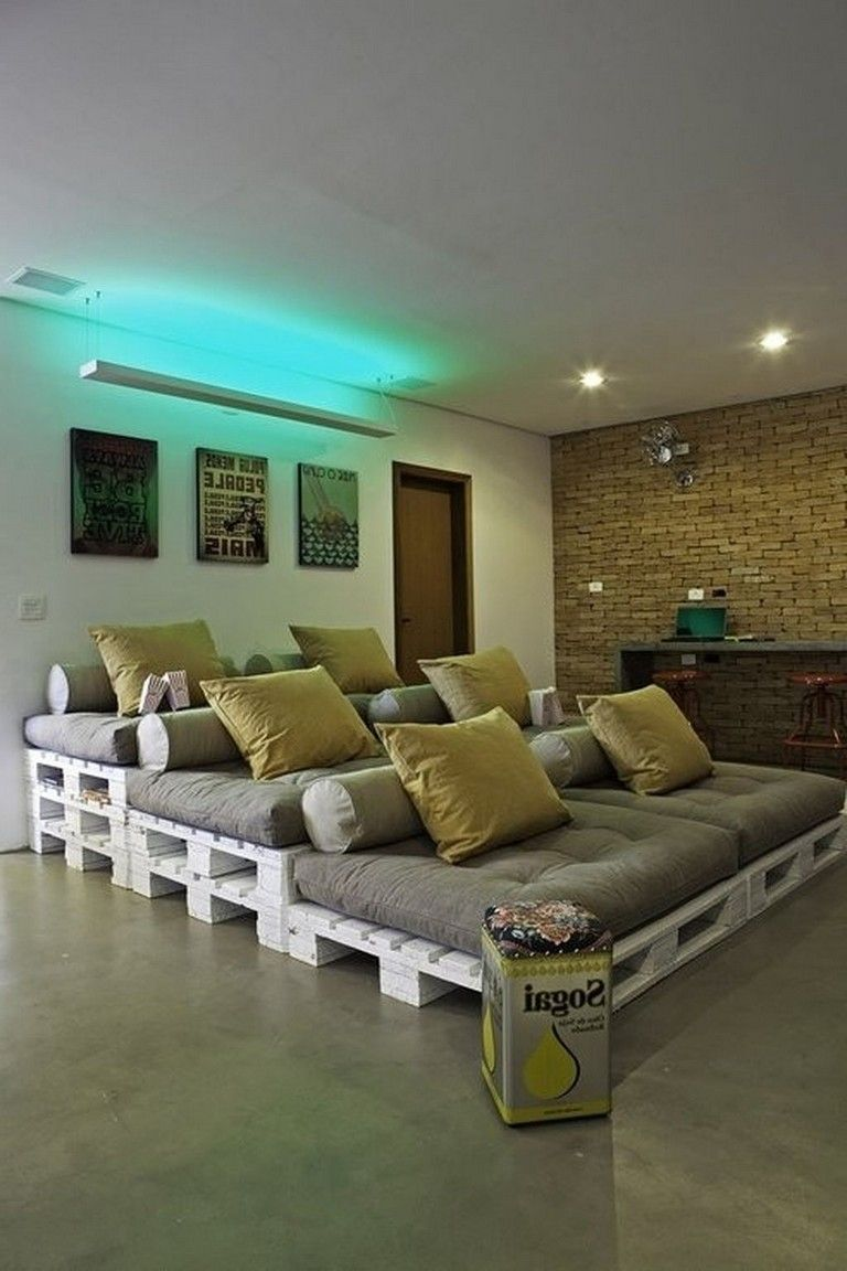 42 Inexpensive Diy Pallet Project Ideas Home Theater Seating