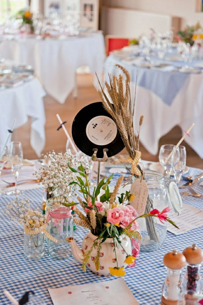 originelle diy ideen mit schallplatten wedding pinterest tischdekoration hochzeit. Black Bedroom Furniture Sets. Home Design Ideas