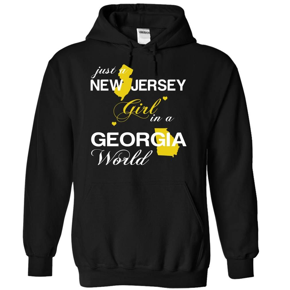 NJJustVang002 Just A New Jersey Girl In A Georgia World T-Shirts, Hoodies. ADD TO CART ==► https://www.sunfrog.com/Valentines/-28NJJustVang002-29-Just-A-New-Jersey-Girl-In-A-Georgia-World-Black-Hoodie.html?id=41382