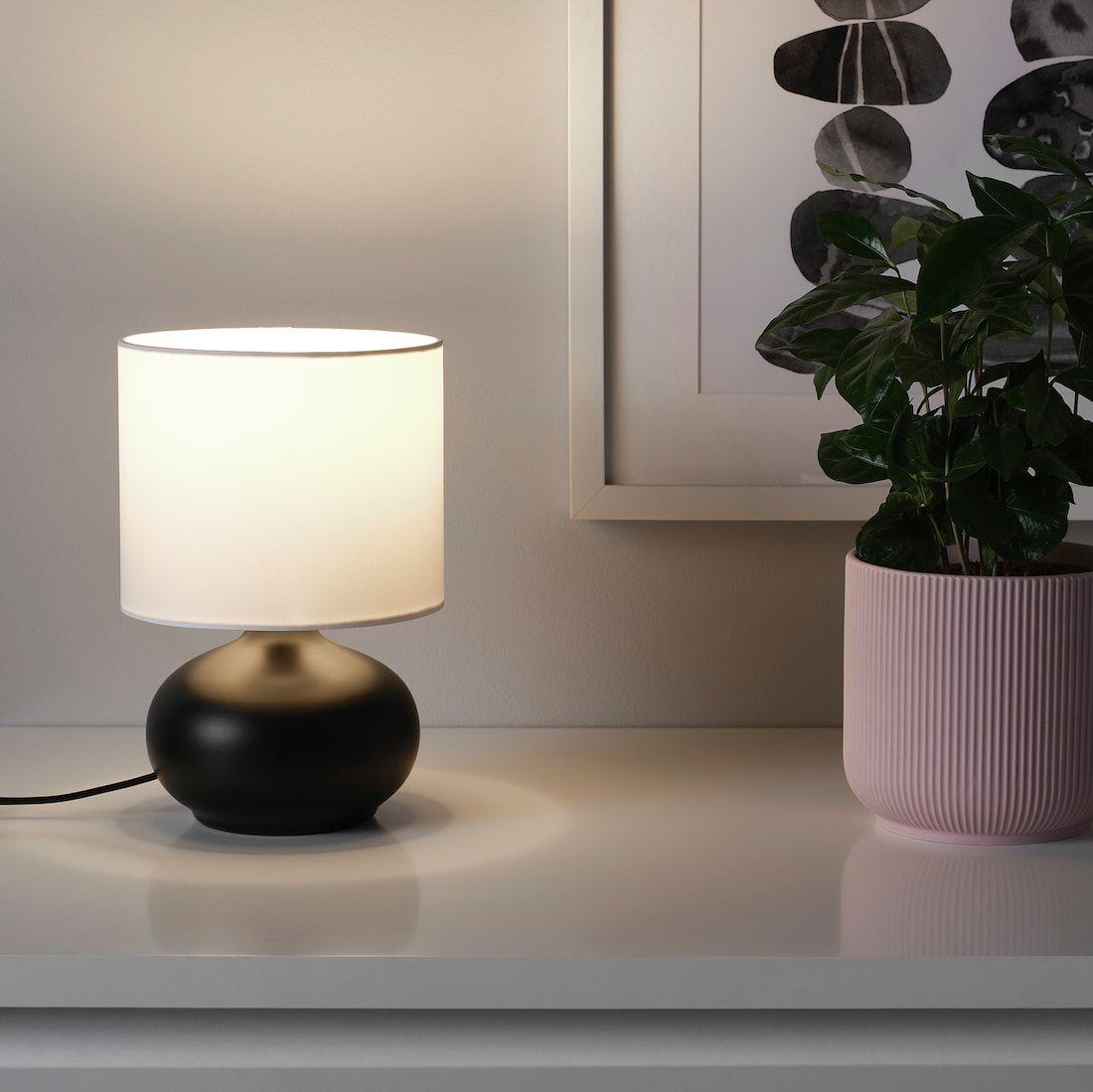 Tvarfot Table Lamp Black White Ikea In 2020 Black Table Lamps Small Table Lamp Table Lamp