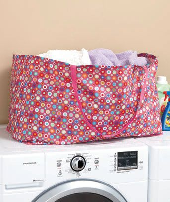 Polka Dot Oversized Laundry Tote Laundry Tote Accessories Storage Laundry Solutions