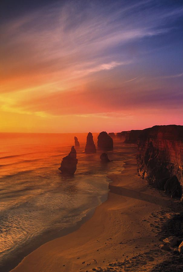 ✮ Sunset And Rock Formations