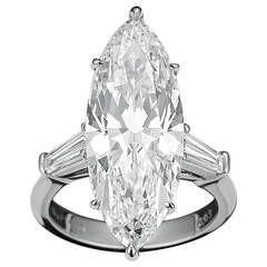 8.03 Carat Marquise Golconda  Diamond Platinum Ring