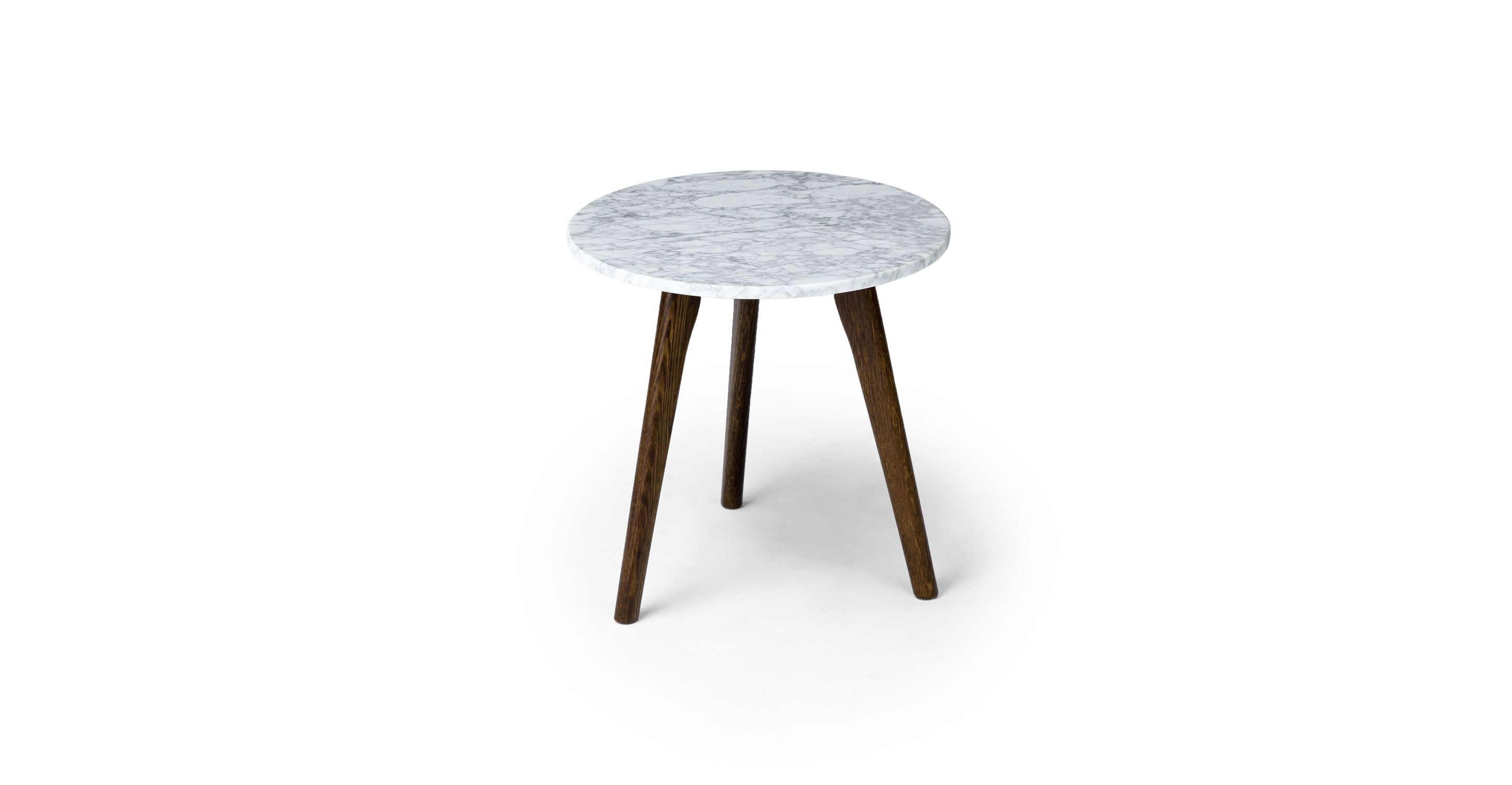 Round Marble Side Table With Solid Oak Legs Article Mara Modern  # Gebrauchte Muebles