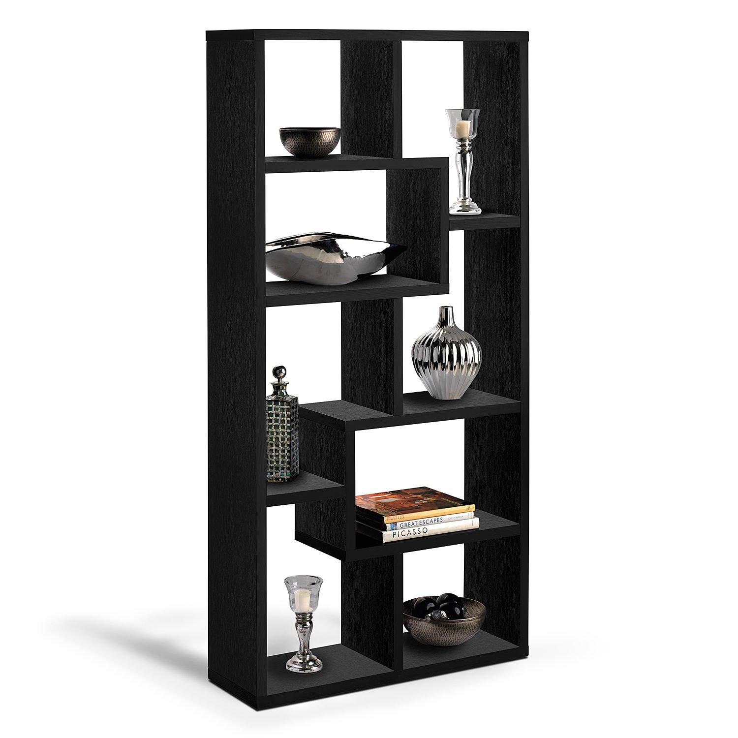 Accent And Occasional Furniture Obsidian Bookcase Black