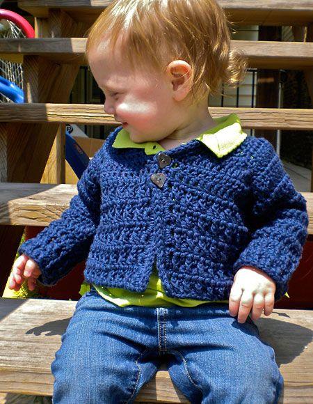 08c09270125d 1.99 Rustic Raglan Crochet Baby Sweater - Knitting Patterns and ...