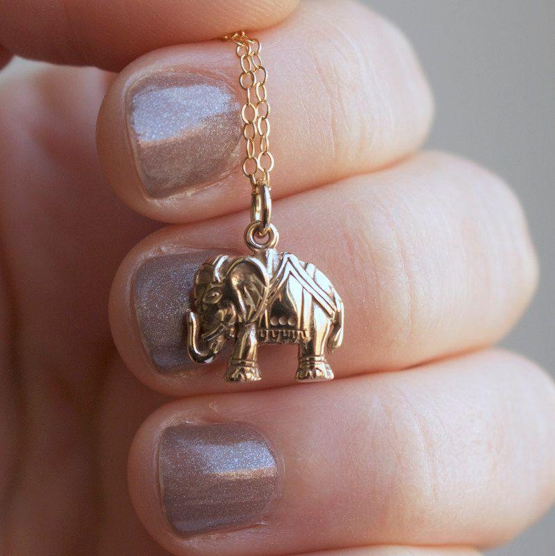 Gold elephant necklace yoga jewelry outdoor sportsman charm elephant necklace gold elephant pendant tiny elephant charm yoga jewelry india inspired aloadofball Images