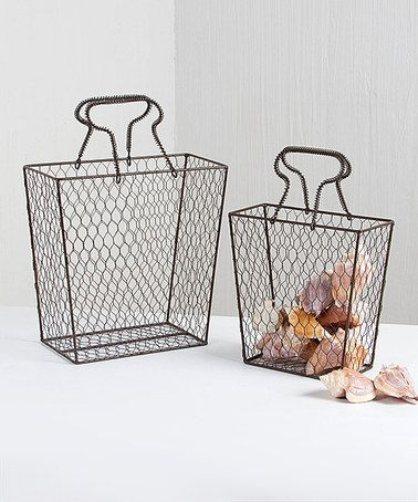 Love this Beach Combers Basket - Set of Two on #zulily! #zulilyfinds