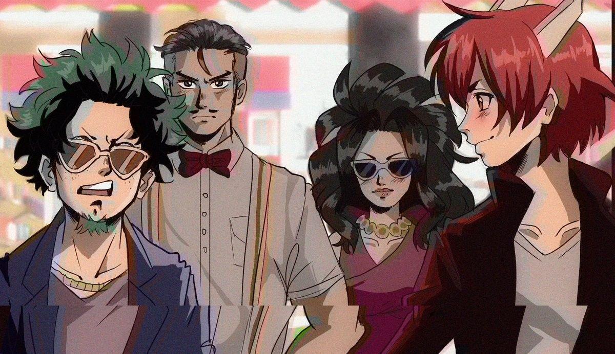 90 S Anime My Hero Academia Makeover Hero Academia Characters