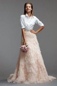 Not Another White Wedding Dress Cream Champagne Skirt