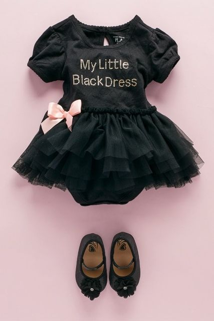 Baby girls' fashion | Baby clothes | Little black dress set | The ...