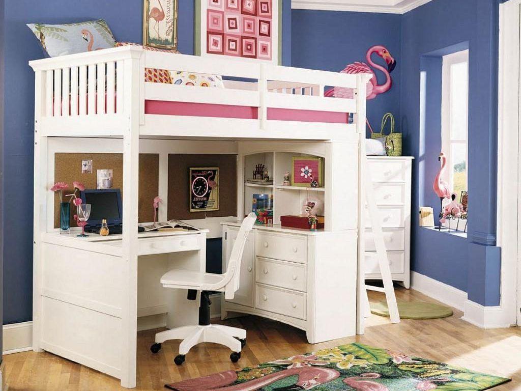 Girls loft bed with desk - Comfy Bunk Bed Desk For Small Bedroom Design Chic Bunk Bed Desk For Home Furniture