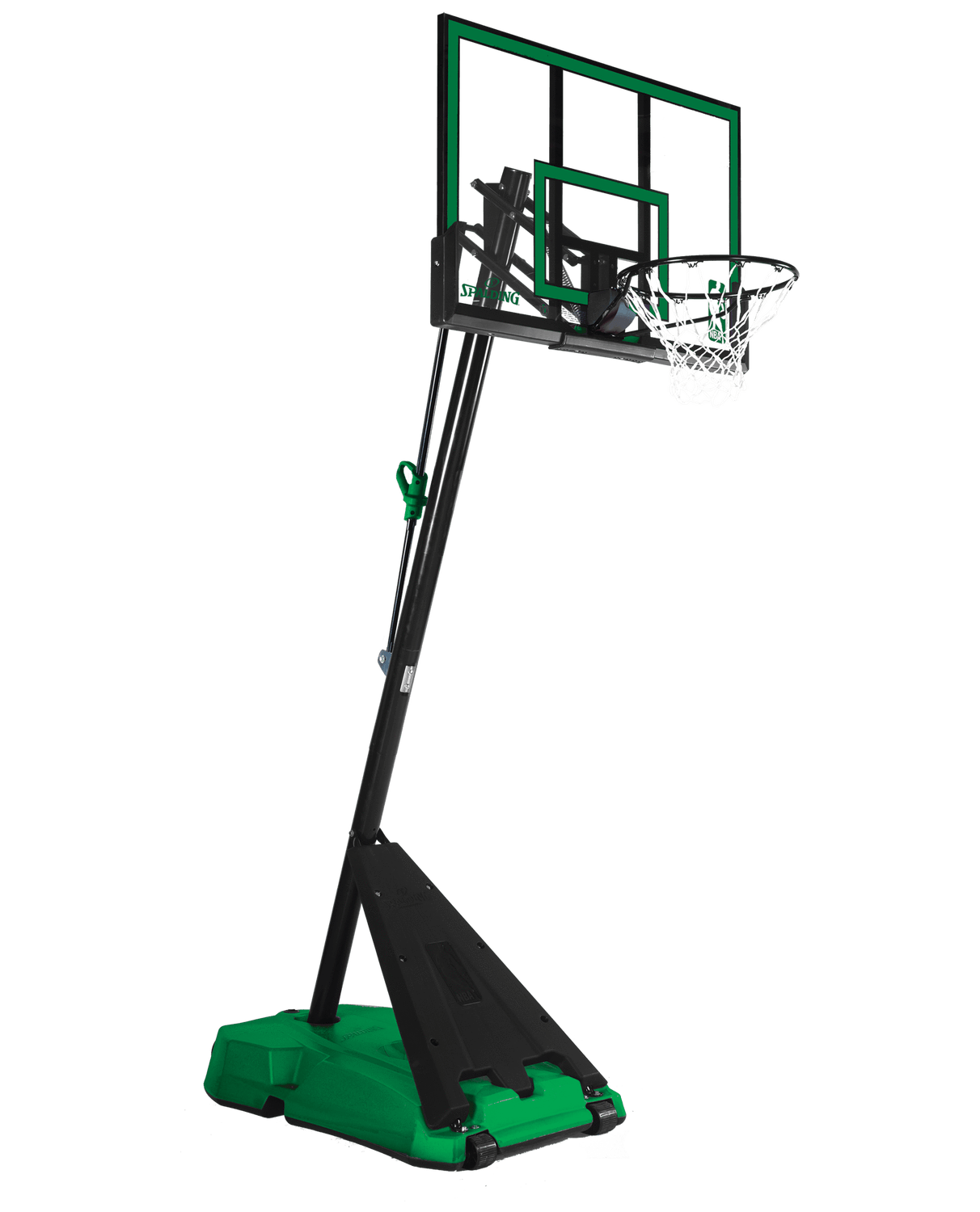 Spalding 52 Hercules Angled Pole Basketball Hoop Green Spalding Basketball Hoop Houston Basketball Basketball Floor