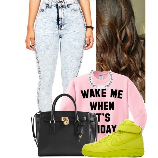 When it's Friday by skye-autumn on Polyvore featuring Michael Kors and NIKE
