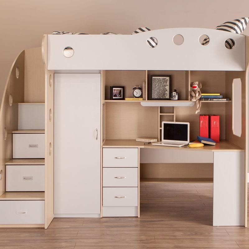 Pin On Chambre Oce Loft beds with storage and desk