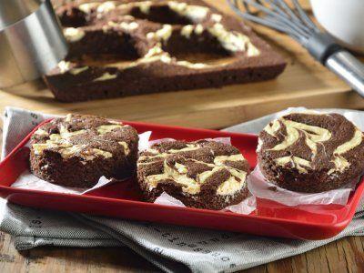 Receta de Brownie de Chocolate Marmoleado