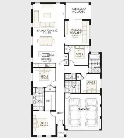 Casa Moderna 4 Quartos E Garagem Dream House Plans Floor Plans House Plans