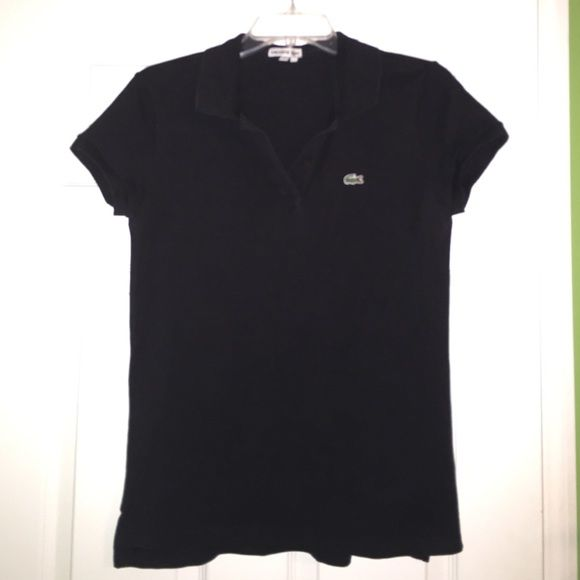 b1512a5a79 Women's classic two button pique polo Blacked pique polo. Gently worn.  Taken care of, never been in the dryer! 100% cotton Lacoste Tops Tees -  Short Sleeve