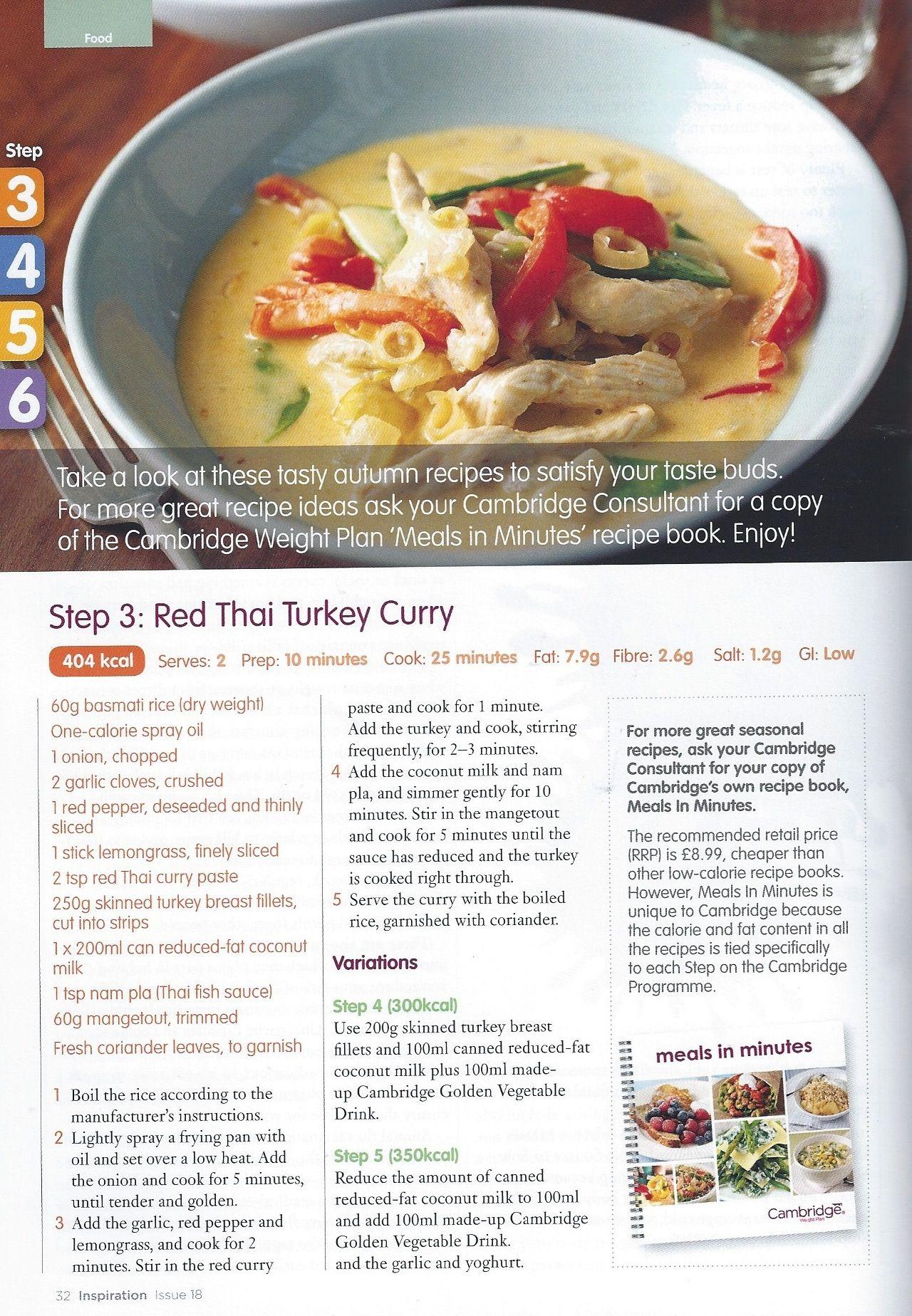 Red Thai Turkey Curry Step 3 Cambridge Weight PlanCambridge Diet
