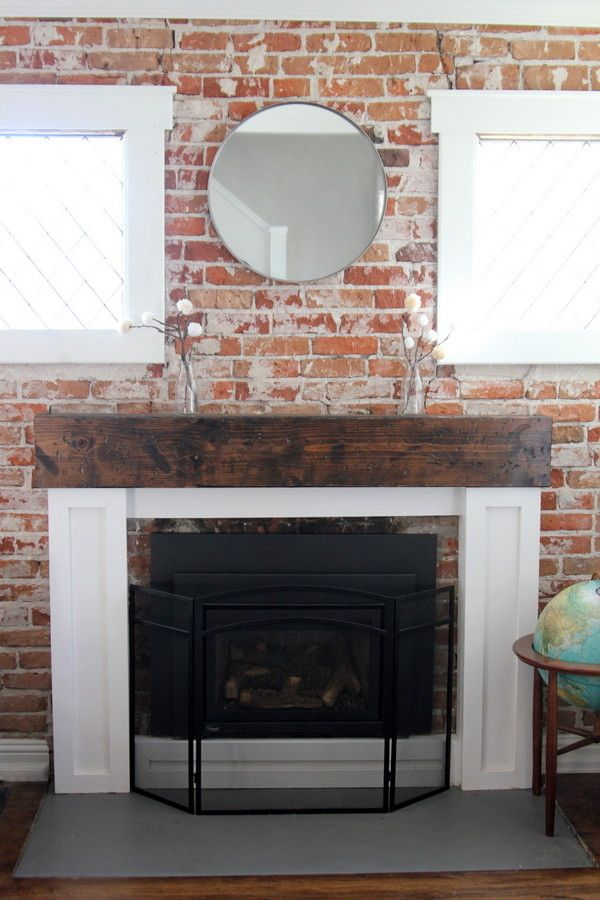 Reclaimed Lumber Mantel Upgrade Your Fireplace With This And Create A New Surround