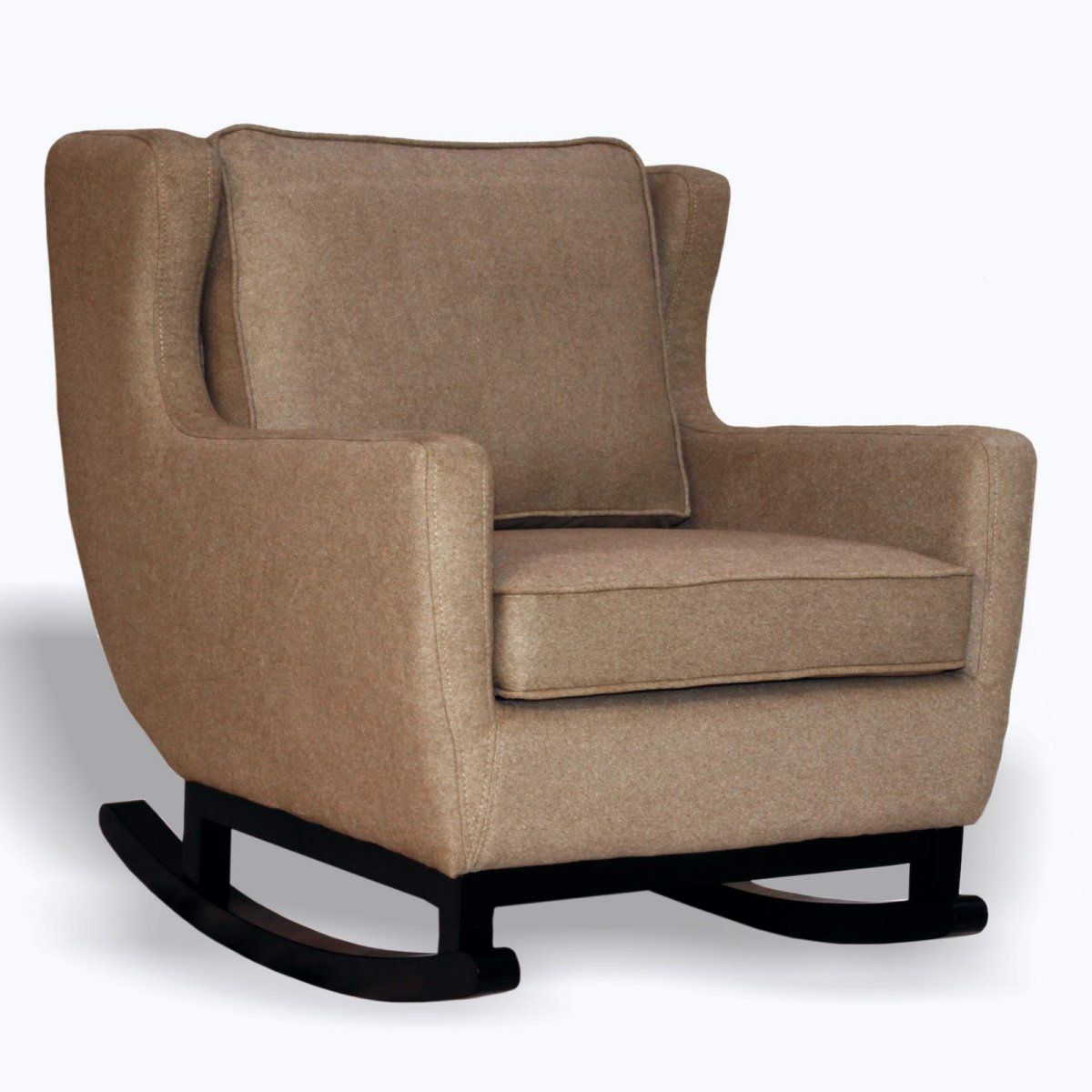 Armen Upholstered Rocking Chair Espresso Chairs At Hayneedle