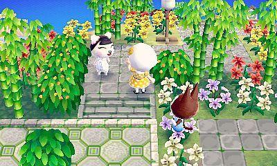 Town inspirtaion: neat zen garden   Animal crossing qr