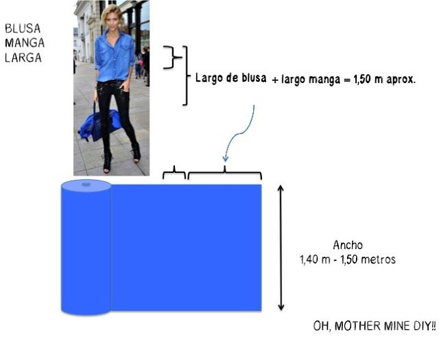 54d46f47dc cuanta tela a comprar para blusa manga larga