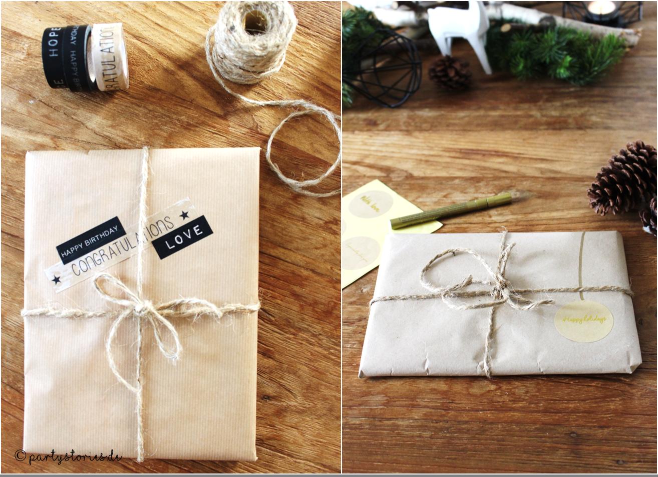 geschenke sch n verpacken verpacken mit packpapier 1 2 washitape oder sticker und ein. Black Bedroom Furniture Sets. Home Design Ideas