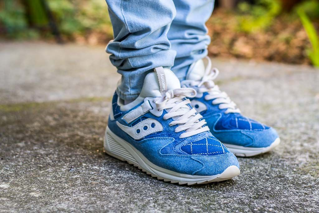 975bef63ee1 See how the Saucony Grid 8500 Boro Washed Denim looks on feet in this video  review before you cop! Find out where to buy these Saucony Grid 8500s  online!