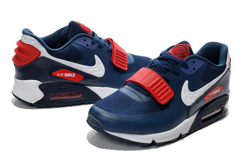 new concept 0d104 b14f6 2015-Nike-Men-27s-Running-Shoes-Air-Max-90-Yeezy-2-shoes-blue-red-white