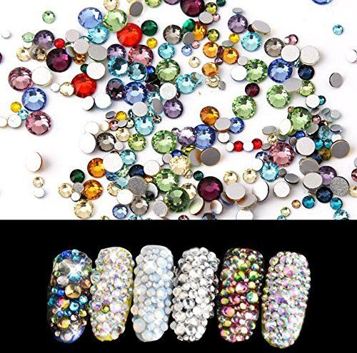 1Bag(Approx 1440PCS)ss3-ss16 1.4mm-4mm Assorted Size Nail Art ... 0954fe9fef6c