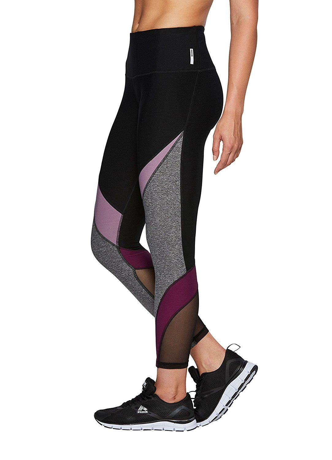 b5a0b47e6d9ab7 RBX Active Spliced Color Block Leggings w/Mesh Inserts *** You can find  more details by visiting the image link.