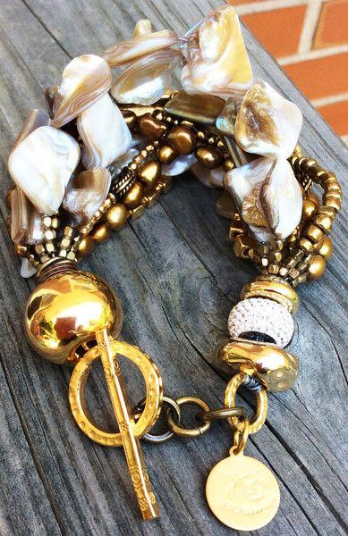 acquista lusso bello design stili di grande varietà Holiday Inspired Statement Champagne Pearl, Bronze & Gold ...