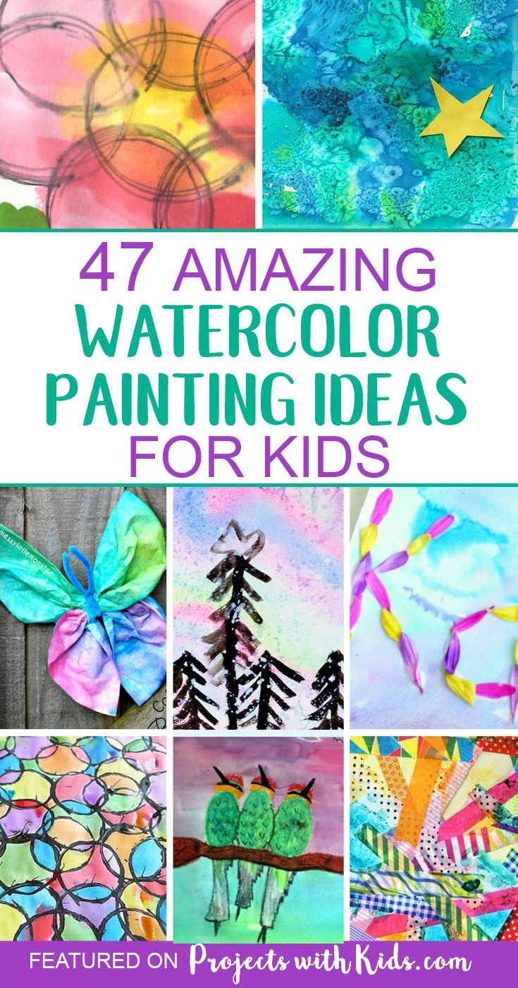 47 Creative Watercolor Painting Ideas Kids Will Love