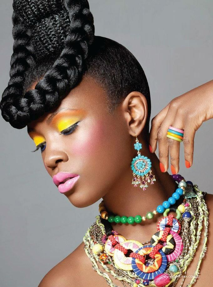 i love the make up and the accessories...super nice! in