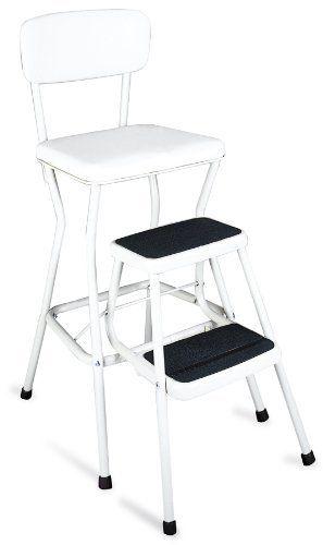 Cosco 11 18wht Retro Chair Step Stool White By Cosco 53