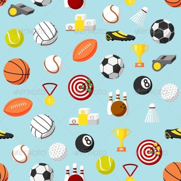 Seamless sports pattern background font logo fonts and logos seamless sports pattern background voltagebd Gallery