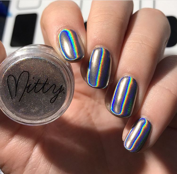 Mitty Magical Fairy Dust Holo Nail Art Powder | Chrome powder ...