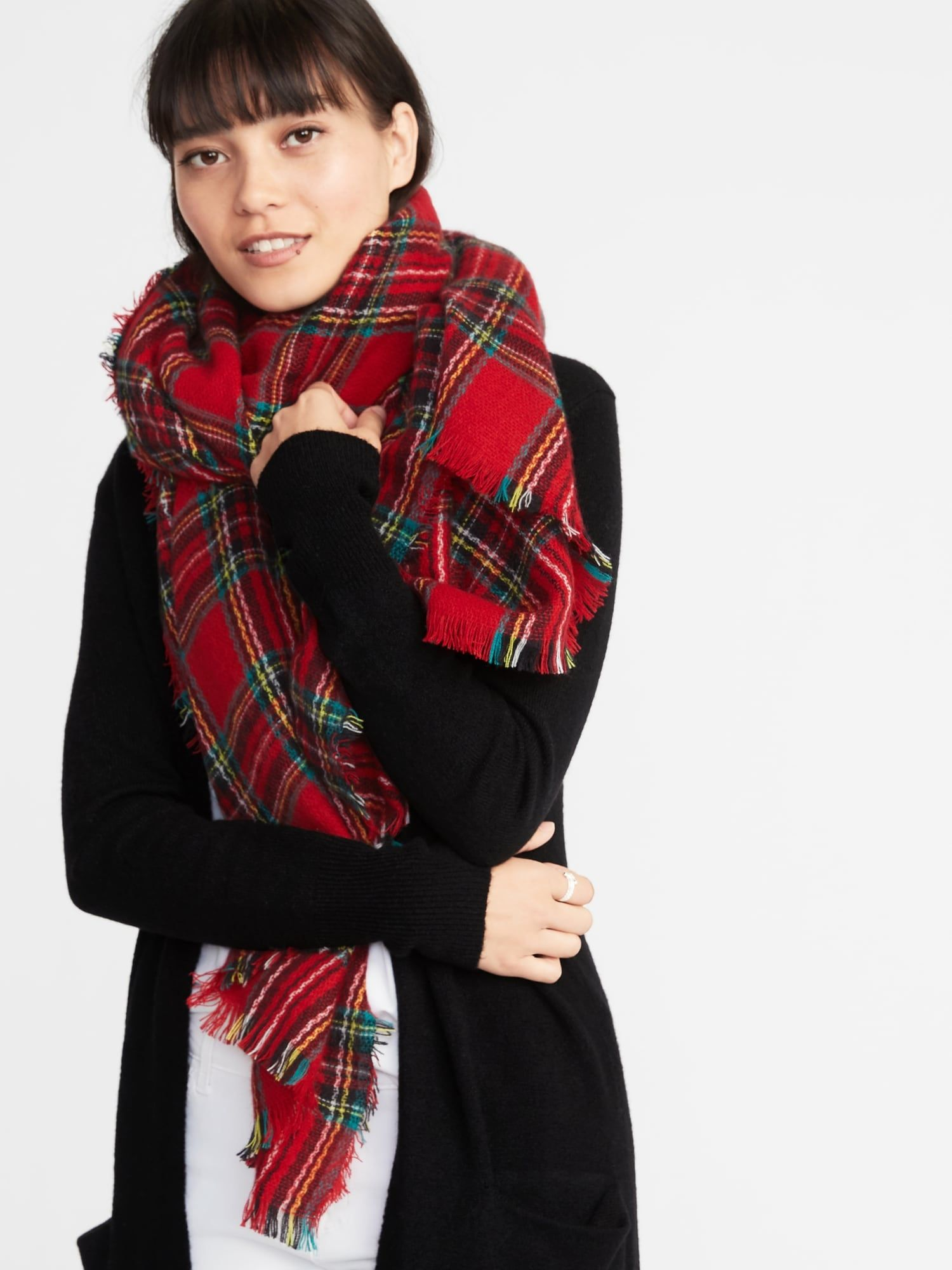 Flannel Blanket Scarf For Women Old Navy Red Plaid Scarf