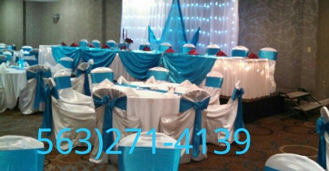 Turquoise wedding by Queen of Quinceañeras