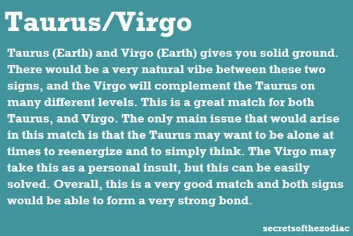 Perfect match for a taurus woman