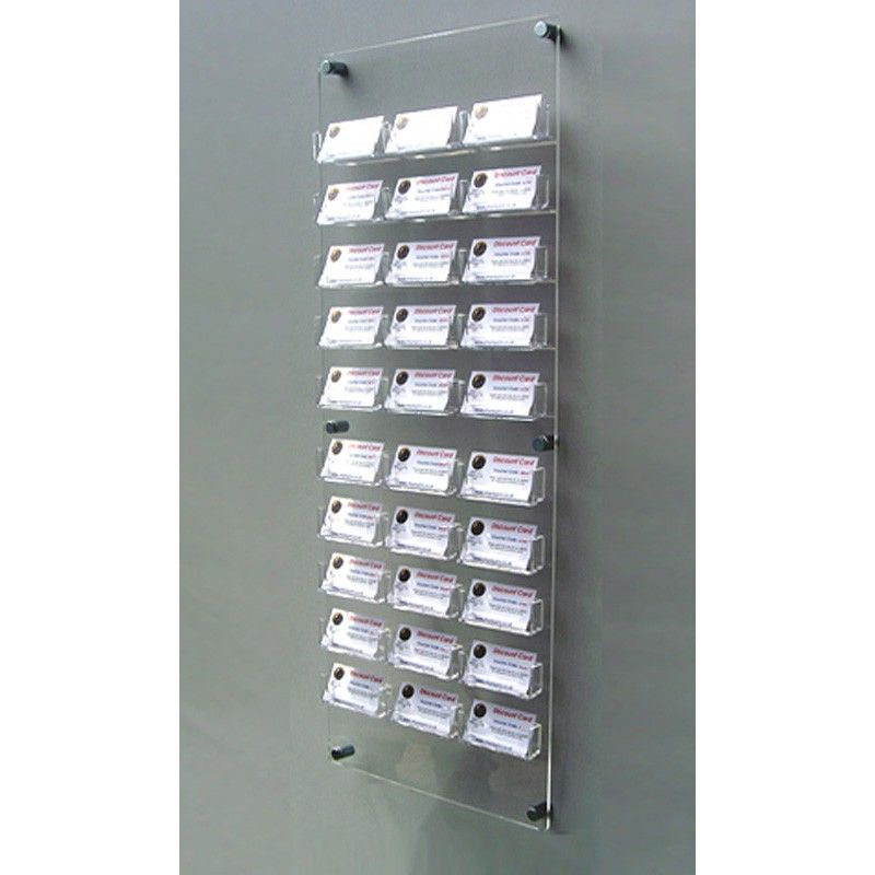 30 Bay Wall Mount Business Card Holders Suitable For