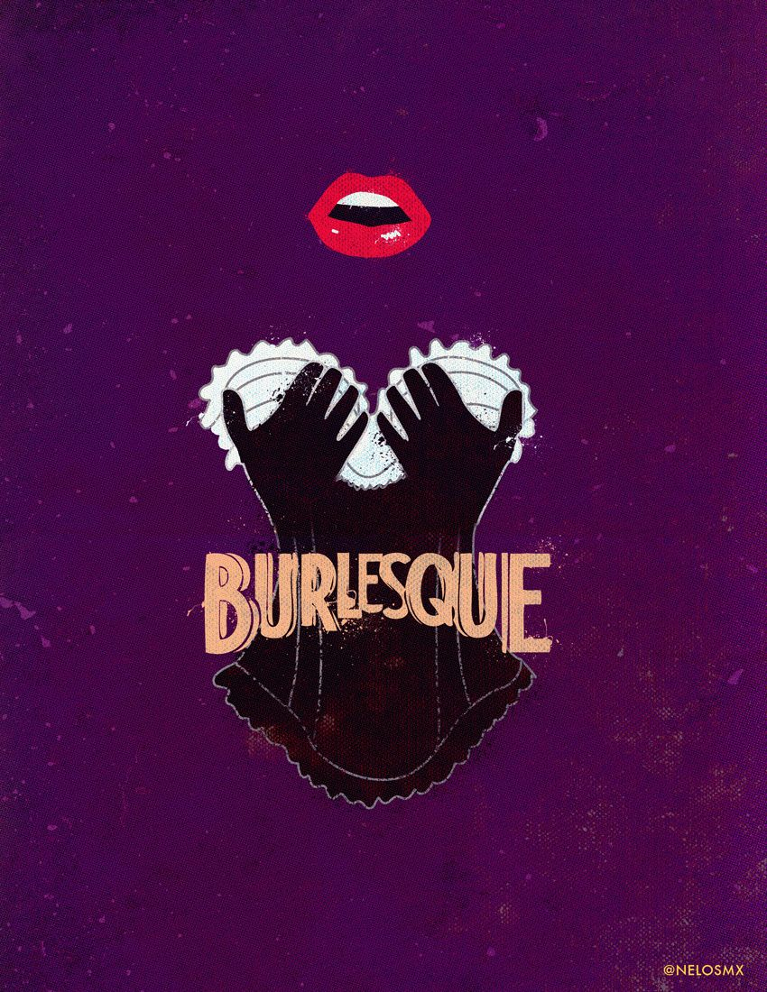 burlesque 2010 minimal movie poster by alejandro
