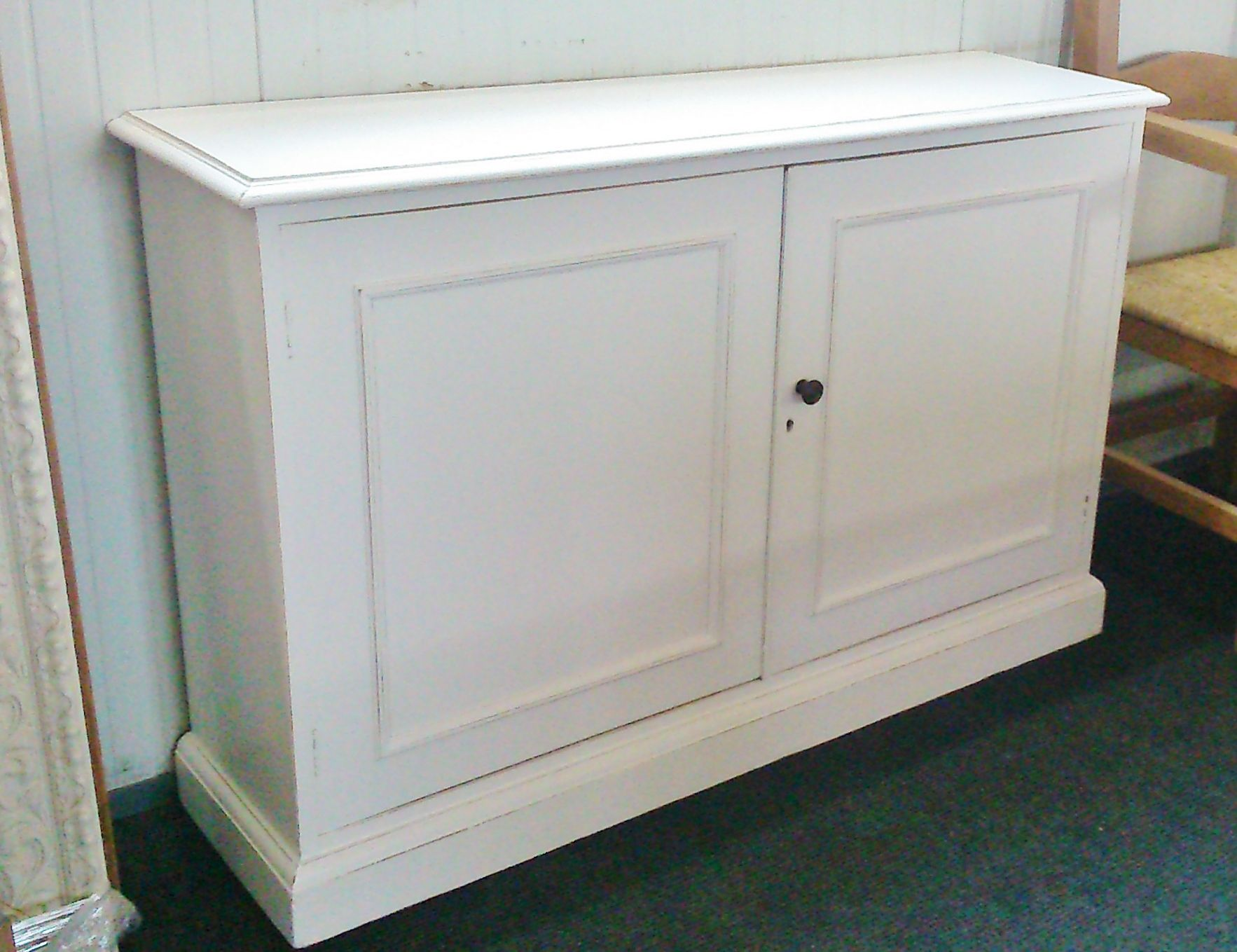 Hall Cupboards Furniture large narrow hall cupboard painted in farrow & ball 'all white